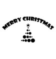 merry christmas text with christmas tree isolated vector image vector image