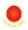 morning sun smile vector image