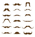 Mustache collection black silhouette of the