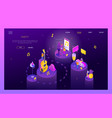 party and celebration - modern isometric vector image vector image