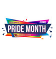 pride month banner design vector image