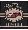 retro sport car old vintage grunge poster vector image vector image