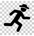 running gentleman icon vector image