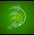 Saint Patricks day design vector image vector image