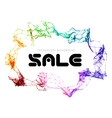 Sale triangle background vector image