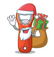 santa with gift opener bottle cap isolated on vector image vector image