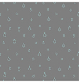 Seamless pattern of rain vector image
