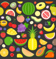 seamless pattern various fruits vector image vector image