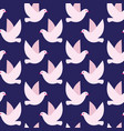 seamless pattern with birds simple texture vector image vector image