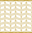 seamless pattern with ropes and chains ongoing vector image vector image