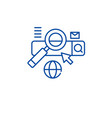 searching line icon concept searching flat vector image vector image