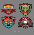 Set Army logo Arms and wings vector image vector image