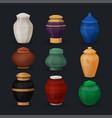 set ash or cremation urns vector image vector image
