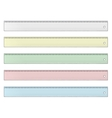 Set of Ruler vector image vector image