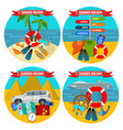 set summer holidays posters travelling land vector image