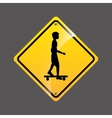 Skater person sign sport extreme design