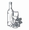 sketch wine vector image