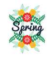 spring floral decoration vector image