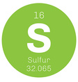 Sulfur chemical element vector image
