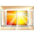 sunlight in window vector image vector image