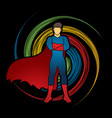 super hero man standing arms across the chest vector image vector image