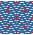 Tile sailor pattern red anchor on white and blue vector image vector image