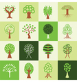 trees logo icons vector image