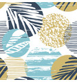 trendy sea seamless pattern with hand texture and vector image vector image