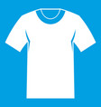 tshirt icon white vector image vector image