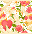wedding seamless pattern marriage background vector image vector image