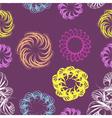 Abstract swirl retro seamless pattern vector image
