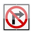 No Right Turn Sign vector image