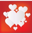 Heart icon medical background Love vector image