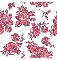 pattern pink rose vector image