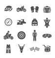 Rider Icons Set vector image