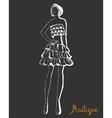 Stylized fashion model figure vector image