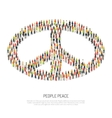 People Peace Poster vector image