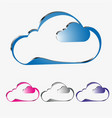 a cloud of different colors set vector image vector image