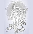apollon the mythological hero of ancient greece vector image