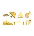 australia traveling icons set australian vector image vector image