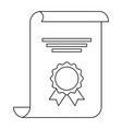 award of excellence with rosette and ribbon vector image