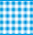 blue and white gingham background texture vector image