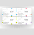 bright business card templates set vector image vector image