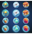 button set icons for web video games vector image vector image