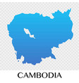 cambodia map in asia continent design vector image vector image