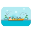 Cartoon Harbour of Port Town vector image