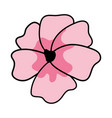 cherry blossom icon vector image vector image
