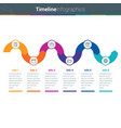 clean and colourful timeline curved infographics i vector image vector image