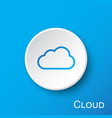 cloud button on blue gradient background vector image