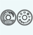 Coins of the japanese currency vector image vector image